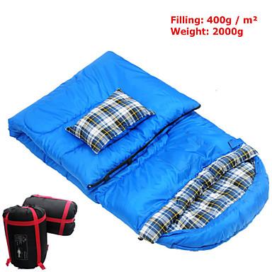 슬립 매트 / 침낭 직사각형 침낭 싱글 / 중공 코튼 200g 210cmX75cm 하이킹 / 캠핑 / 낚시 / 여행 / 수렵 / 야외 방수 / 먼지 방지 / 따뜻함 유지 / 압축 / 추운 날씨 /