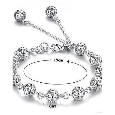 Damen Ketten- & Glieder-Armbänder Bettelarmbänder Sterling Silber Schmuck Weihnachts Geschenke Hochzeit Party Alltag Normal Modeschmuck