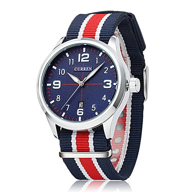 CURREN Муж. Наручные часы Кварцевый Японский кварц Горячая распродажа Материал Группа Кулоны Разноцветный