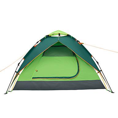 Makino 3-4 אנשים אוהל משולש קמפינג אוהל חדר אחד מאוורר היטב עמיד למים עמיד מוגן מגשם עמיד לאבק נגד חרקים נשימה ל צעידה דיג חוף קמפינג