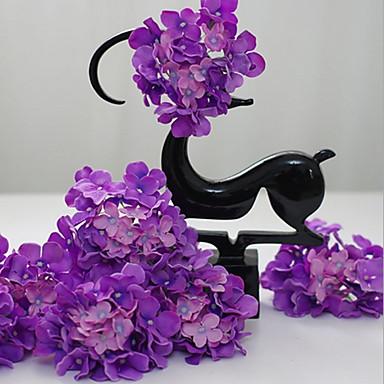 Kunstige blomster 5 Gren Moderne Stil Hortensiaer Bordblomst