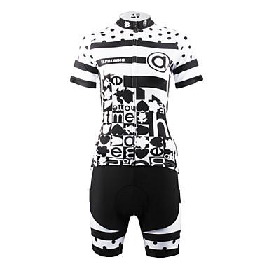 ILPALADINO Naisten Lyhythihainen Pyöräily jersey ja shortsit - Musta/Valkoinen Pyörä Shortsit Jersey Vaatesetit, Nopea kuivuminen,
