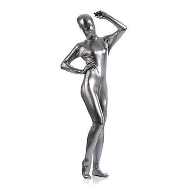 Shiny Zentai Anzüge Ninja Zentai Kostüme Cosplay Kostüme Grau Solide Gymnastikanzug / Einteiler Zentai Kostüme Elasthan Glänzend