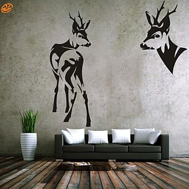 חיות / רומנטיקה / אופנה / אבסטרקט / פנטזיה מדבקות קיר מדבקות קיר מטוס,PVC M:42*65cm+39*109cm / L:54*80cm+50*143cm