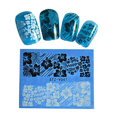 3D Nail Stickers-Muuta-Sarjakuva / Lovely-Sormi / Varvas-6.4*5.3cm-1pcs