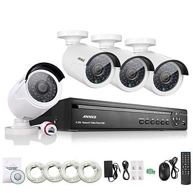 annke® 4CH hd 1.3 mp komplet 960p NVR POE sigurnost IP kamera, sustav kućnog mrežni sustav vanjski CCTV