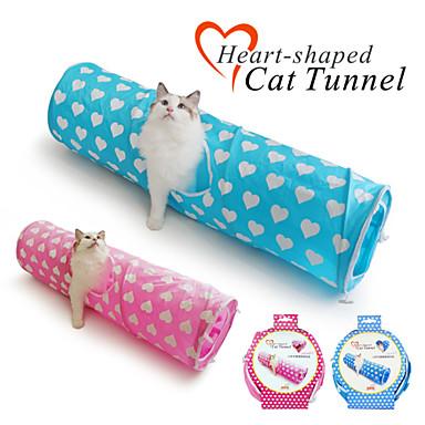 Kissan lelu Lemmikkieläinten lelut Putket ja tunnelit Taiteltava Textile Sininen Pinkki