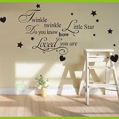 Eläimet Ihmiset Asetelma Romantiikka Muoti Muodot Vintage Holiday Sarjakuva Leisure Fantasy Wall Tarrat Words & Quotes Wall Stickers