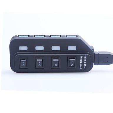 Prijenosni brzi 4.8gbps USB 3.0 4-porta hub sa switch / indikator