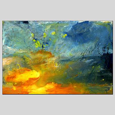 Maalattu AbstraktiModerni / Classic / Perinteinen / Pastoraali / European Style 1 paneeli Kanvas Hang-Painted öljymaalaus For