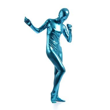 חליפות Zentai מבריקות Ninja Zentai תחפושות קוספליי כחול אחיד /סרבל תינוקותבגד גוף Zentai ספנדקס מתכתי מבריק יוניסקס האלווין (ליל כל