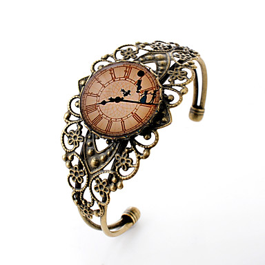 Narukvice s privjeskom Nakit za gležanj Dragi kamen Glina Reciklirani papir Legura Simple Style Izrezbaren Flower Shape Bronza Jewelry 1pc