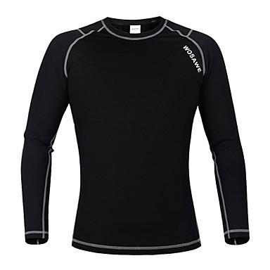 WOSAWE Unisex Langermet Sykkeljakke Helfarge Sykkel Jersey, Hold Varm, Vår, Polyester / Elastisk / Fleece / Fleece / Fleecefor