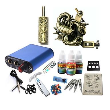 Starter Kit Tattoo 1 x aluminijski tetovaža stroj za obloge i sjenčanje Tattoo Machine Mini napajanje 1 × 20ml Tattoo Ink 1 x aluminijske