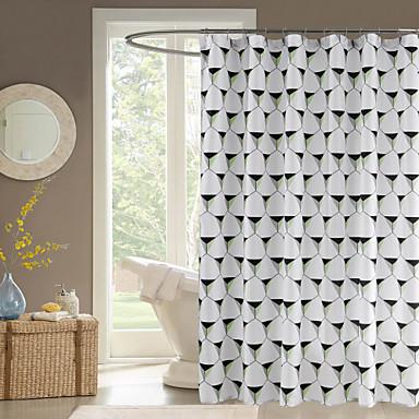 מקלחת מלבן גיאומטרי מודרני וילונות 71x72inch, 71x79inch