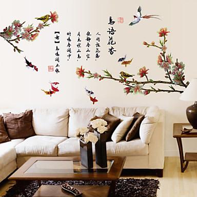 Dekorative Mur Klistermærker - Ord og sitater Wall Stickers Landskap / Dyr / Romantik Stue / Soverom / Baderom