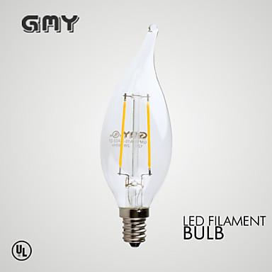 E12 Luzes de LED em Vela B 2 leds COB Regulável Decorativa Branco Quente ≥200lm 2700K AC 110-130V