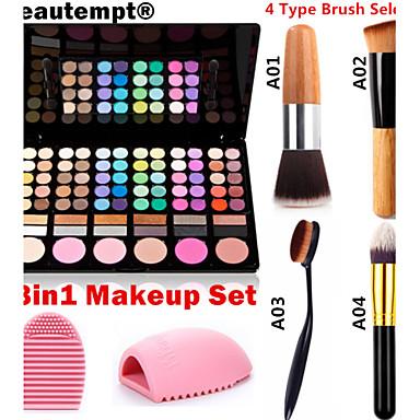 78 Rouge+Lidschatten Spiegel Make-up Pinsel Trocken Matt Schimmer Mineral Auge Gesicht Weiß machen Glitter Lipgloss Farbiger Lipgloss Pot