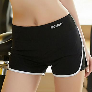 Naisten Juoksushortsit Nopea kuivuminen Hengittävä Puristus Kevyet materiaalit Hikeä siirtävä Pants Alaosat varten Jooga Pilates Kuntoilu