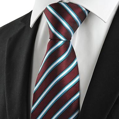 Gravata(Azul / Roxo,Poliéster)Listrado