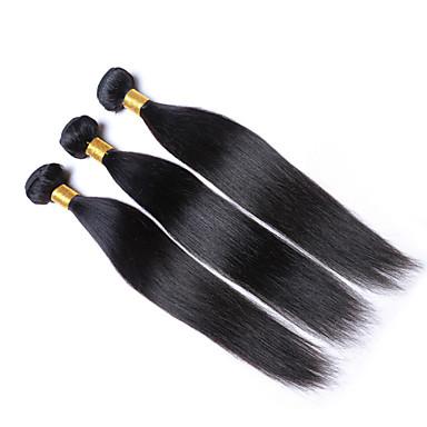 Preto Cor Natural Reto Cabelo Peruviano Tramas de cabelo humano Extensões de cabelo 0.05kg