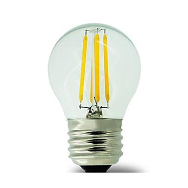 E26/E27 LED filament žarulje G45 4 LED diode COB Vodootporno Ukrasno Toplo bijelo 400lm 2700K AC 220-240V