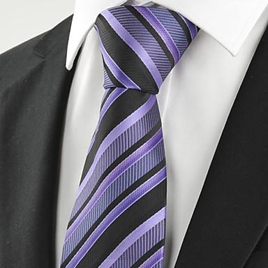 עניבה-פסים(שחור / סגול,פוליאסטר)