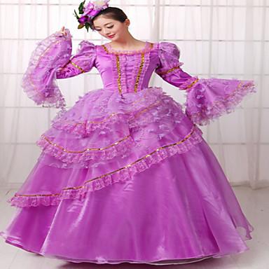Yksiosainen/Mekot Klassinen ja Perinteinen Lolita Steampunk® Viktoriaaninen Cosplay Lolita-mekot Yhtenäinen Pitkähihainen Pitkä Pituus