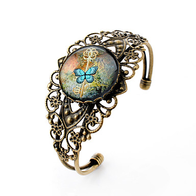 Narukvice s privjeskom Nakit za gležanj Simple Style Izrezbaren Dragi kamen Glina Reciklirani papir Legura Cvijet Rukav leptir Sa