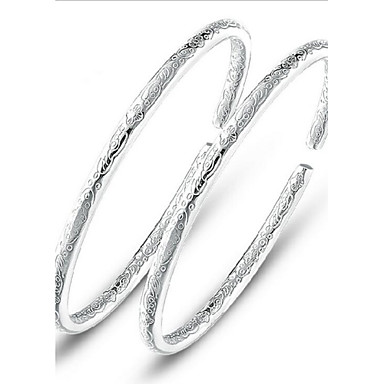 voordelige Dames Sieraden-Dames Bangles Dames Sterling zilver Armband sieraden Zilver Voor Bruiloft Feest Dagelijks Causaal