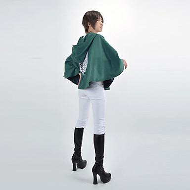 קיבל השראה מ Attack on Titan Komui Lee אנימה תחפושות קוספליי חליפות קוספליי גיאומטרי גלימה עבור זכר