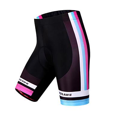 WOSAWE Mulheres Bermudas Acolchoadas Para Ciclismo Moto Shorts / Shorts Acolchoados / Calças Tapete 3D, Secagem Rápida, A Prova de Vento