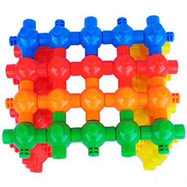 צבעים ממוינים פלסטיק אבני בניין צעצועי DIY