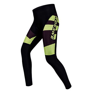 WOSAWE Unisexo Calças Elásticas para Ciclismo Moto Calças / Meia-calça / Shorts Acolchoados Tapete 3D, Secagem Rápida, Respirável