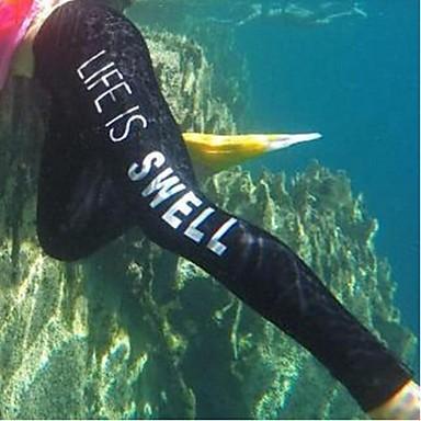 Naisten Märkäpuvut Dive Skins Märkäpuku housut Vedenkestävä Ultraviolettisäteilyn kestävä Pehmeys Elastaani Chinlon LYCRA® Märkäpuku