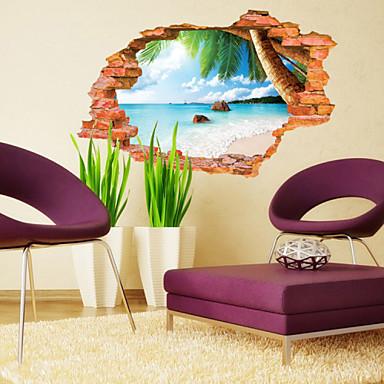 Zid Decal Dekorativne zidne naljepnice - 3D zidne naljepnice Pejzaž Botanički Ponovno namjestiti Odstranjivo