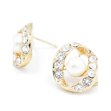 Žene Kristal Sitne naušnice Viseće naušnice Imitacija bisera Naušnice Klasik Jewelry Rose Gold Za Party 1pc