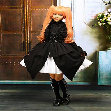 Jednodijelni/Haljine Gothic Lolita Classic/Tradicionalna Lolita Steampunk® Cosplay Lolita Haljine Jednobojni Bez rukávůDužina kratkih