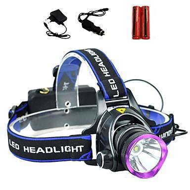 LS1792 Otsalamput Ajovalo LED 2000 lm 3 Tila Cree XM-L T6 Akuilla ja latureilla Zoomable Säädettävä fokus Iskunkestävä Ladattava