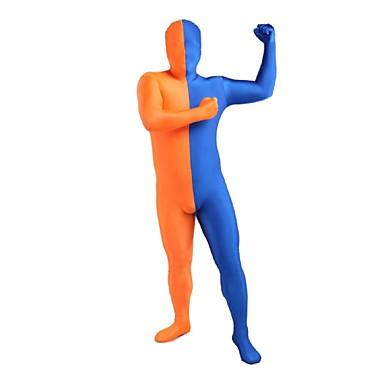 Zentai asut Ninja Zentai Cosplay-asut Patchwork Trikoot/Kokopuku Zentai Spandex Lycra Unisex Halloween Joulu