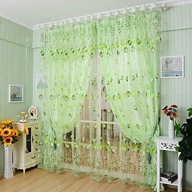 Barra no Interior Um Painel Tratamento janela Regional, Jacquard Sala de Estar Poliéster Material Sheer Curtains Shades Decoração para