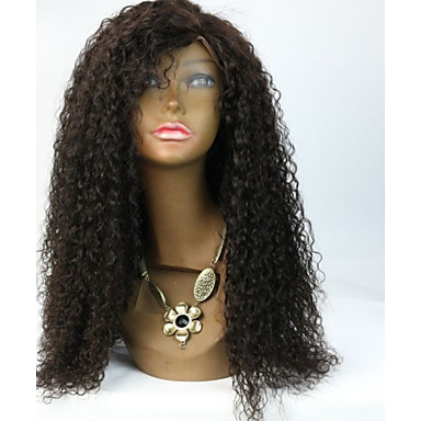 Ljudska kosa Full Lace Lace Front Perika Kovrčav 130% 150% Gustoća 100% rađeno rukom Afro-američka perika Prirodna linija za kosu Kratko