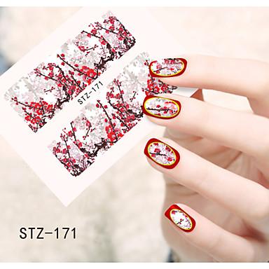 1 아트 스티커 네일 물 이동 스티커 꽃 카툰 러블리 메이크업 화장품 아트 디자인 네일