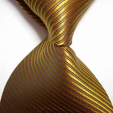 moda masculina listrada bronzagem jacquard tecida gravata gravata