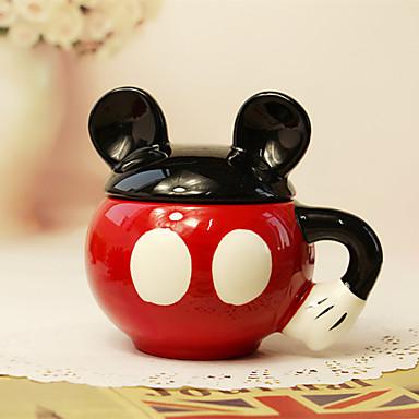 1 개 300 ml의 귀여운 만화 만화 세라믹 창조적 인 컵