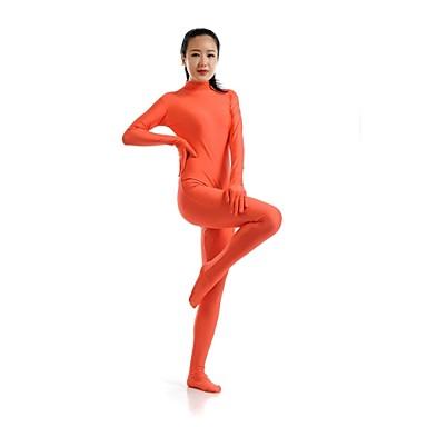Ternos Zentai Morphsuit Ninja Fantasia Zentai Fantasias de Cosplay Laranja Cor ÚnicaCollant/Pijama Macacão Fantasia Zentai Macacão
