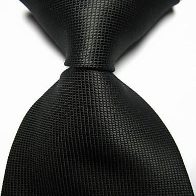 miesten juhla / illalla häät tarkistettu jacquard kudottu solmio solmio