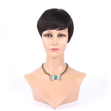 흑인 여성을위한 최고급 기계 만든 글루리스의 리안 세련된 컷 짧은 인간의 머리 가발