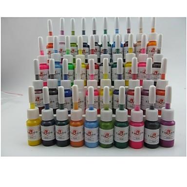 BaseKey Tätowierfarbe 40 x 5 ml Professionell / Hohe Qualität, formaldehydfrei - Mehrfarbig / Rot / Schwarz