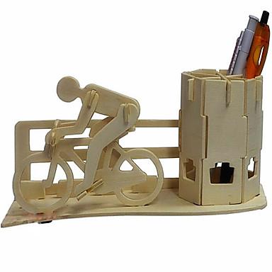 voordelige 3D-puzzels-3D-puzzels Houten puzzels Fietsen pen Container Hout Speeltjes Geschenk
